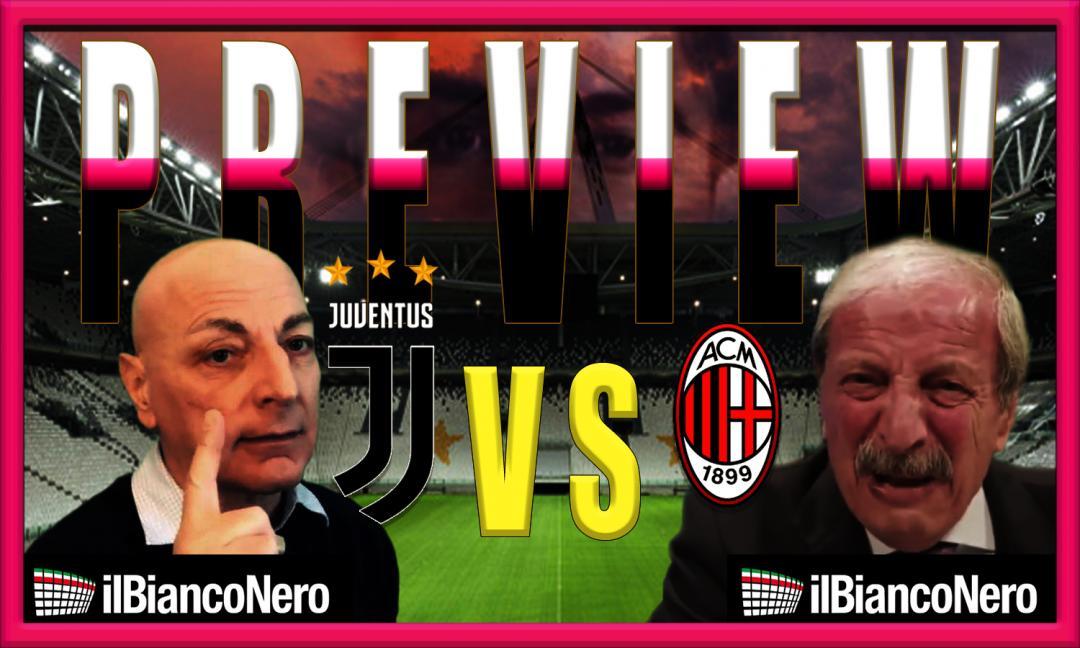 Juve-Milan si scalda, Chirico sfida Crudeli: 'Rossoneri siete finiti' VIDEO