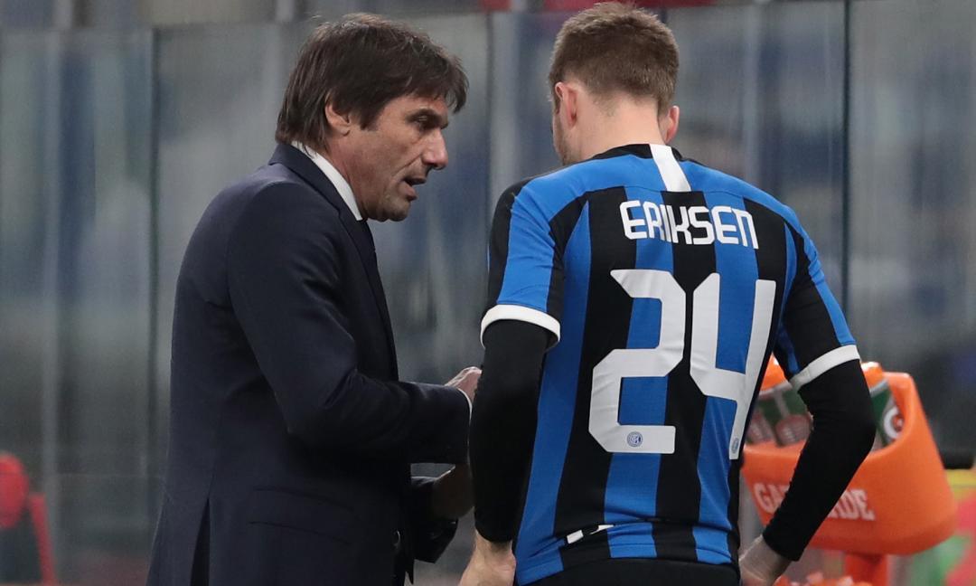 Inter, Conte: 'Eriksen alla Pirlo? Anche no...'