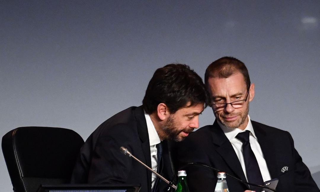 Sentenza Uefa-SuperLega, tifosi Juve sui social: 'Ceferin, game over!', 'Sempre con Agnelli'