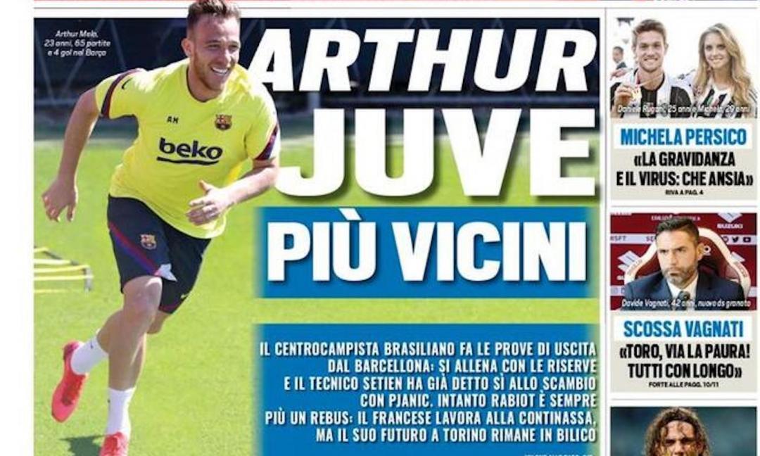 'Arthur-Juve più vicini', 'Coraggio calcio': le prime pagine dei giornali