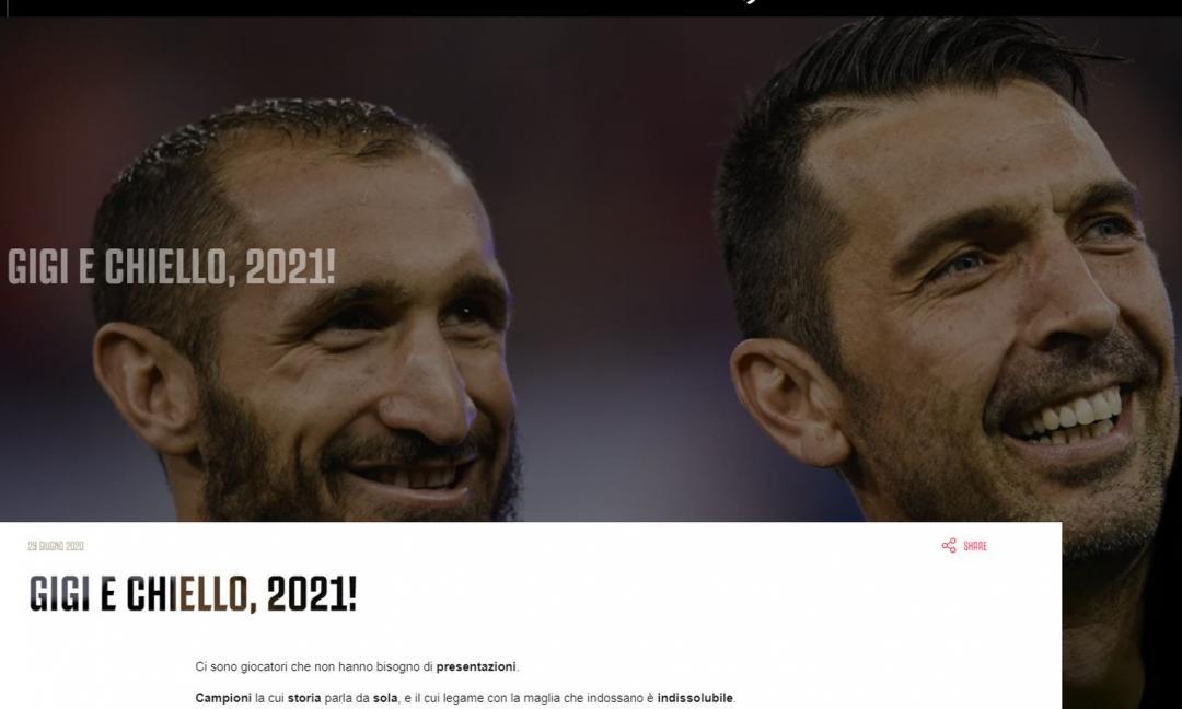 UFFICIALE JUVENTUS: Rinnovano Buffon e Chiellini, il comunicato