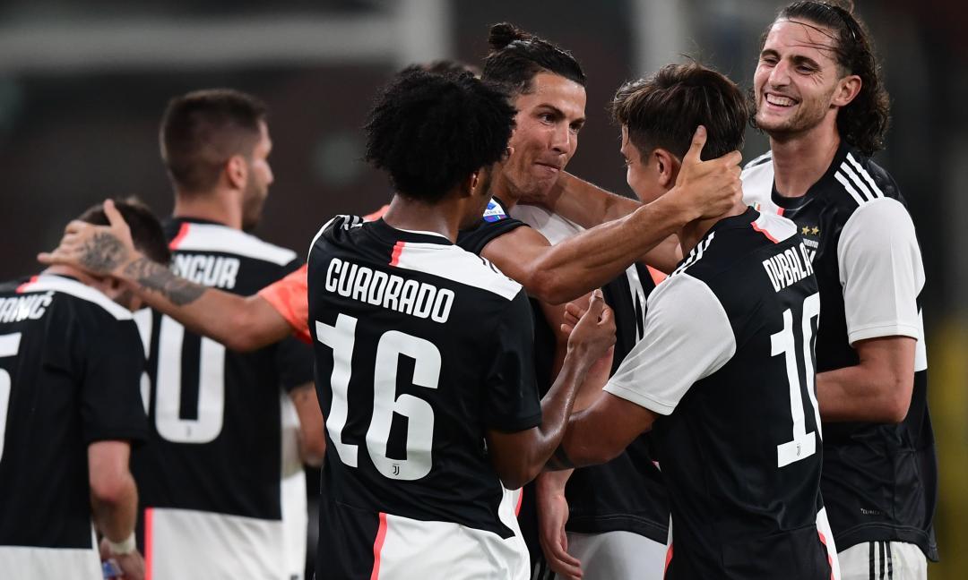La Juve affonda il Genoa e torna a +4 sulla Lazio: 3-1 a Marassi