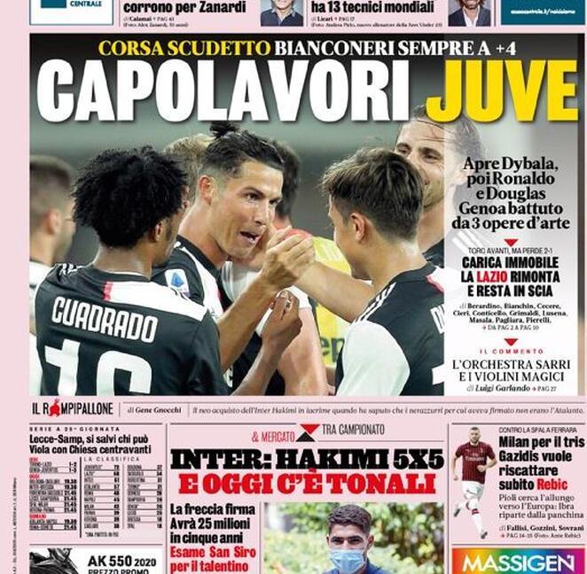 'Capolavori Juve', 'Figurone': le prime pagine dei giornali
