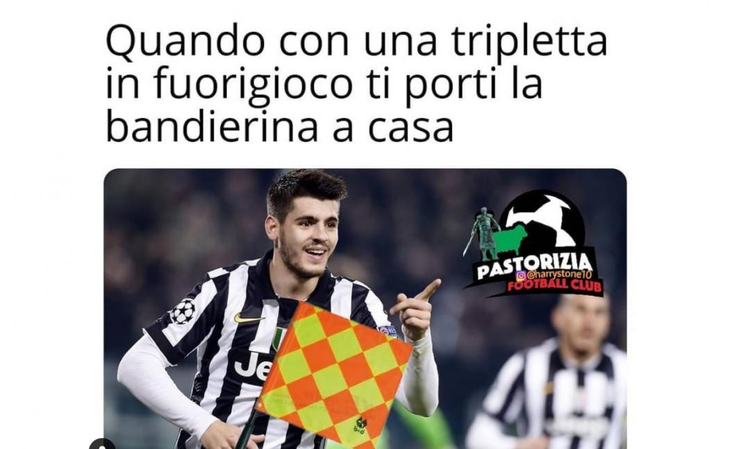 juve sui social tutti ridono per i gol in fuorigioco di morata maxi gallery ilbianconero com gol in fuorigioco di morata maxi