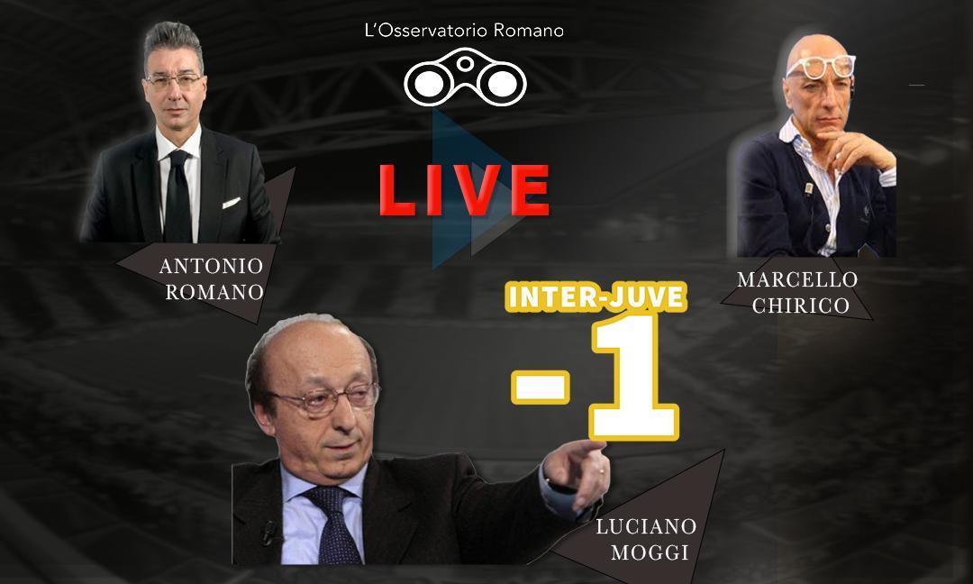 OR LIVE: le ultime su Inter-Juve e sul mercato. Moggi ospite: 'Il rigore del '98? Decise l'arbitro! Per Recoba i nerazzurri andavano retrocessi'