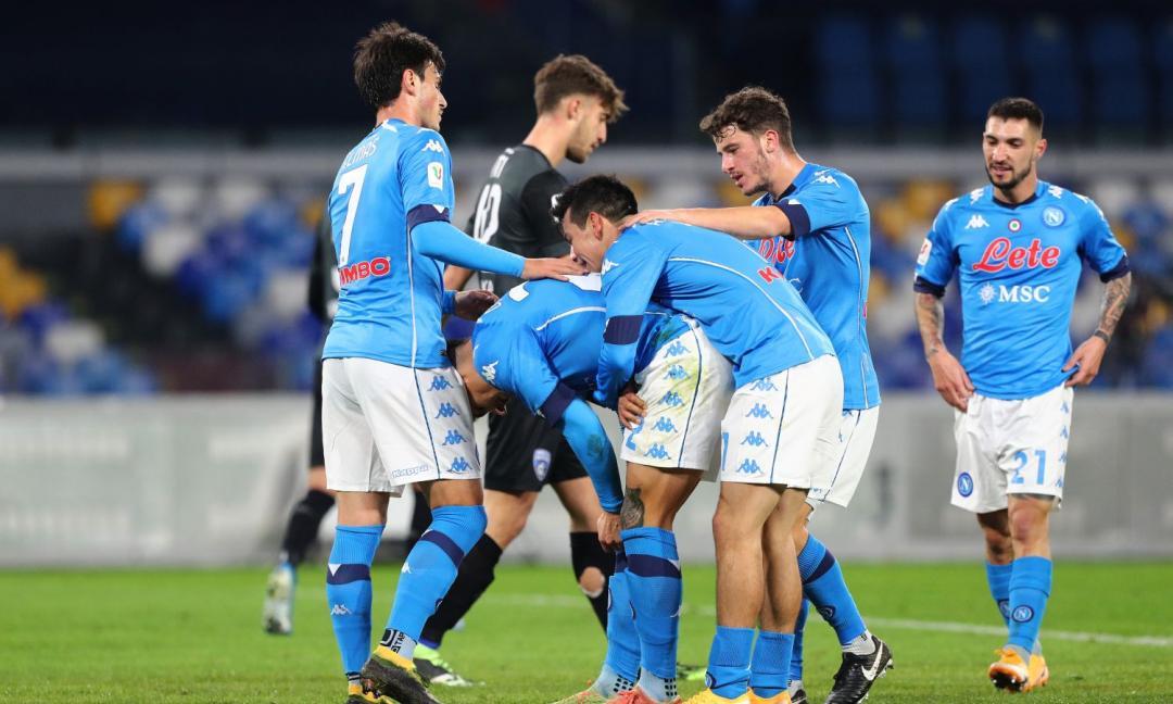 Coppa Italia, il Napoli soffre ma batte 3-2 l'Empoli 'decimato' dalla Asl