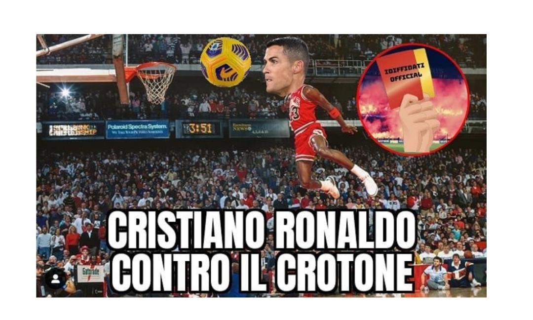 Juve-Crotone, riecco i 'meme' col nuovo stacco-gol di Ronaldo GALLERY