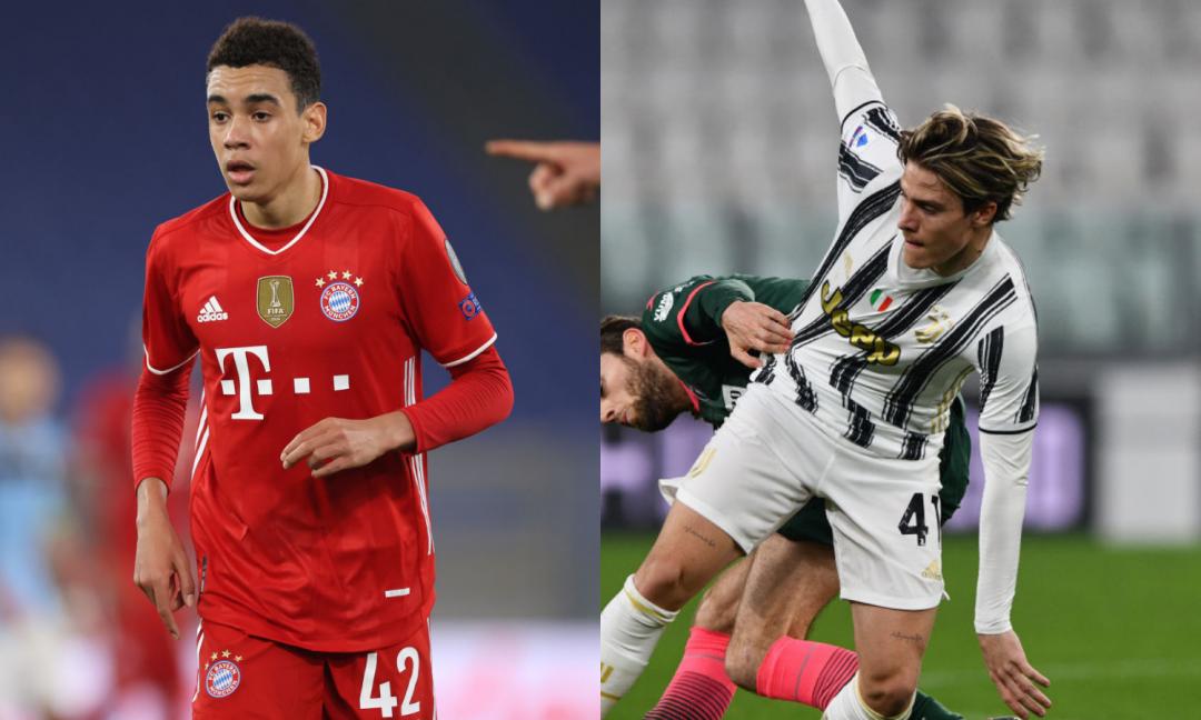 Il boom di Musiala fa infuriare gli juventini: 'A 17 anni titolare in Champions, la Juve ha paura di lanciare Fagioli'