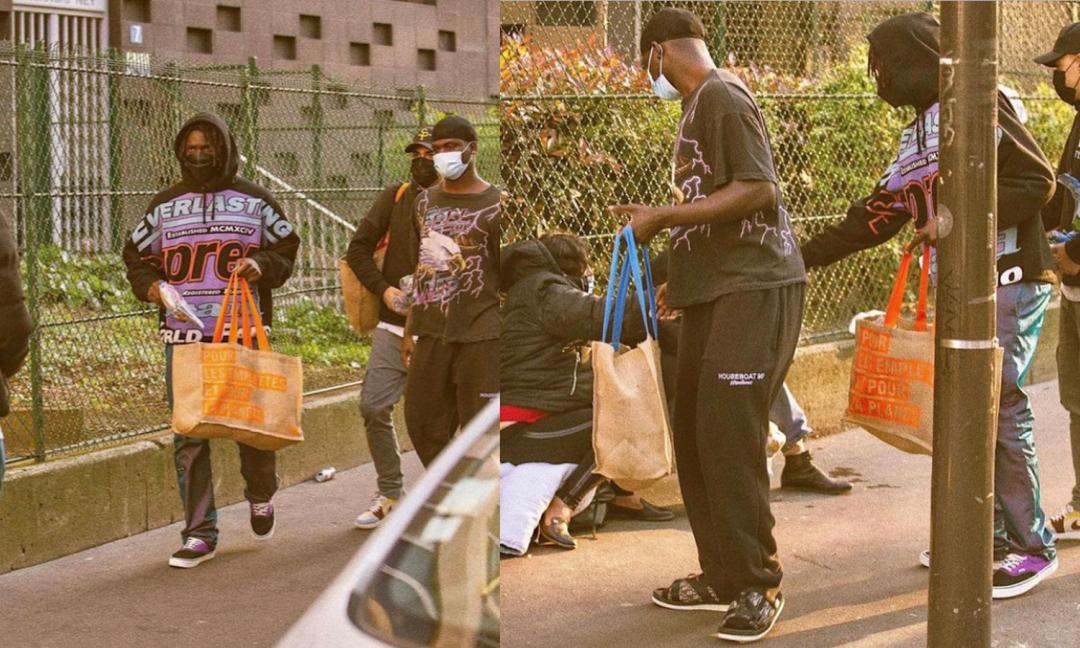 Cuore Kean, dona cibo ai poveri in un quartiere di Parigi!