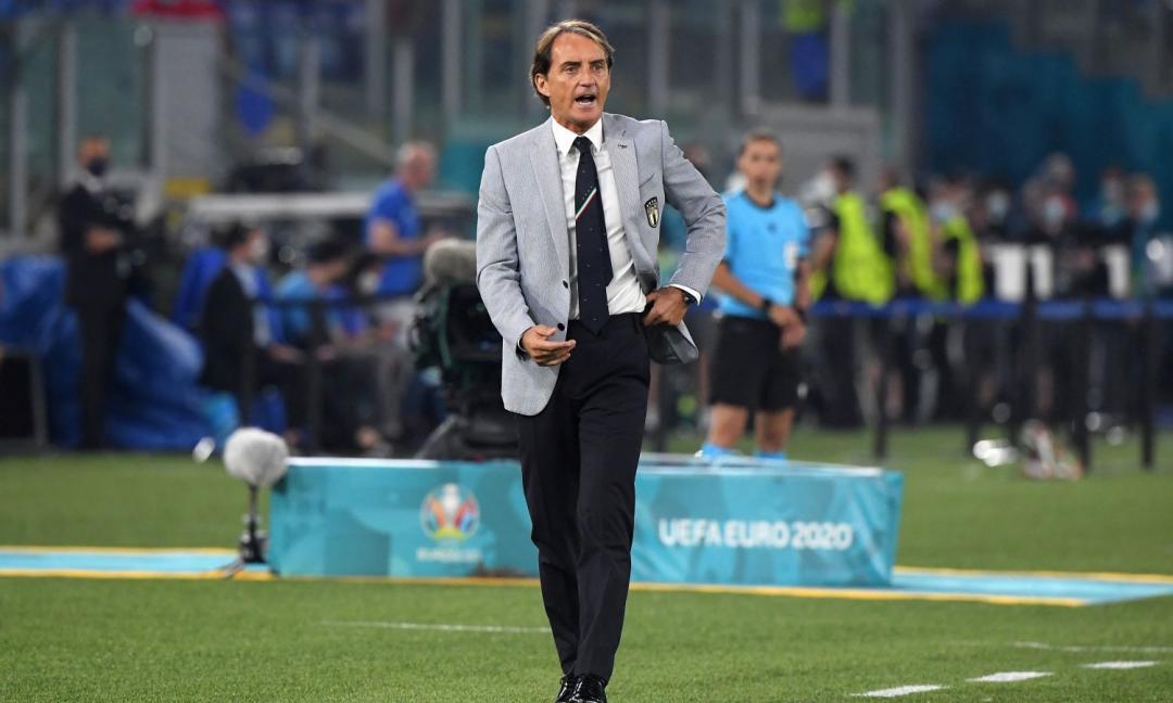 Italia, Mancini: 'Bravi a velocizzare il gioco. Wembely? Dico che....'