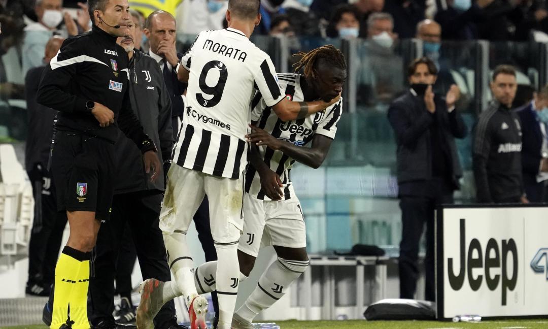 Juve, esce Morata: problema fisico anche per lui