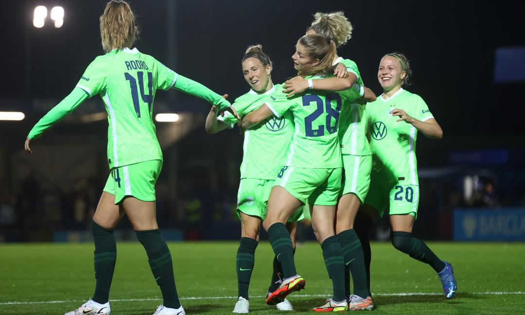 UWCL, l'altro match del girone Juve: Wolfsburg spazza via Servette, il risultato